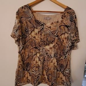 NY Collection Woman Sheer Blouse - (No Size)